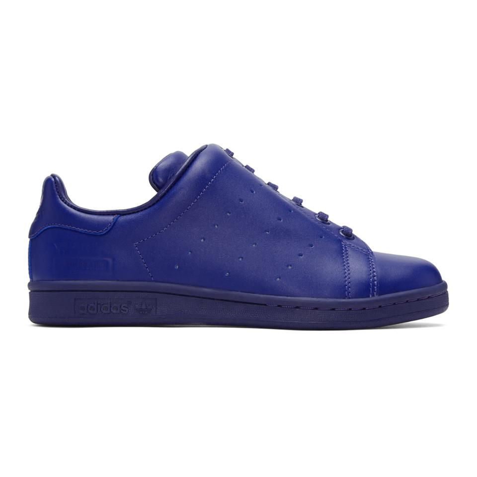 Blue adidas Originals Edition Diagonal Stan Smith Sneakers Yohji Yamamoto Outlet 2018 New Sale Manchester Great Sale Free Shipping Original Best Seller For Sale Buy Cheap From China 9kZuSM