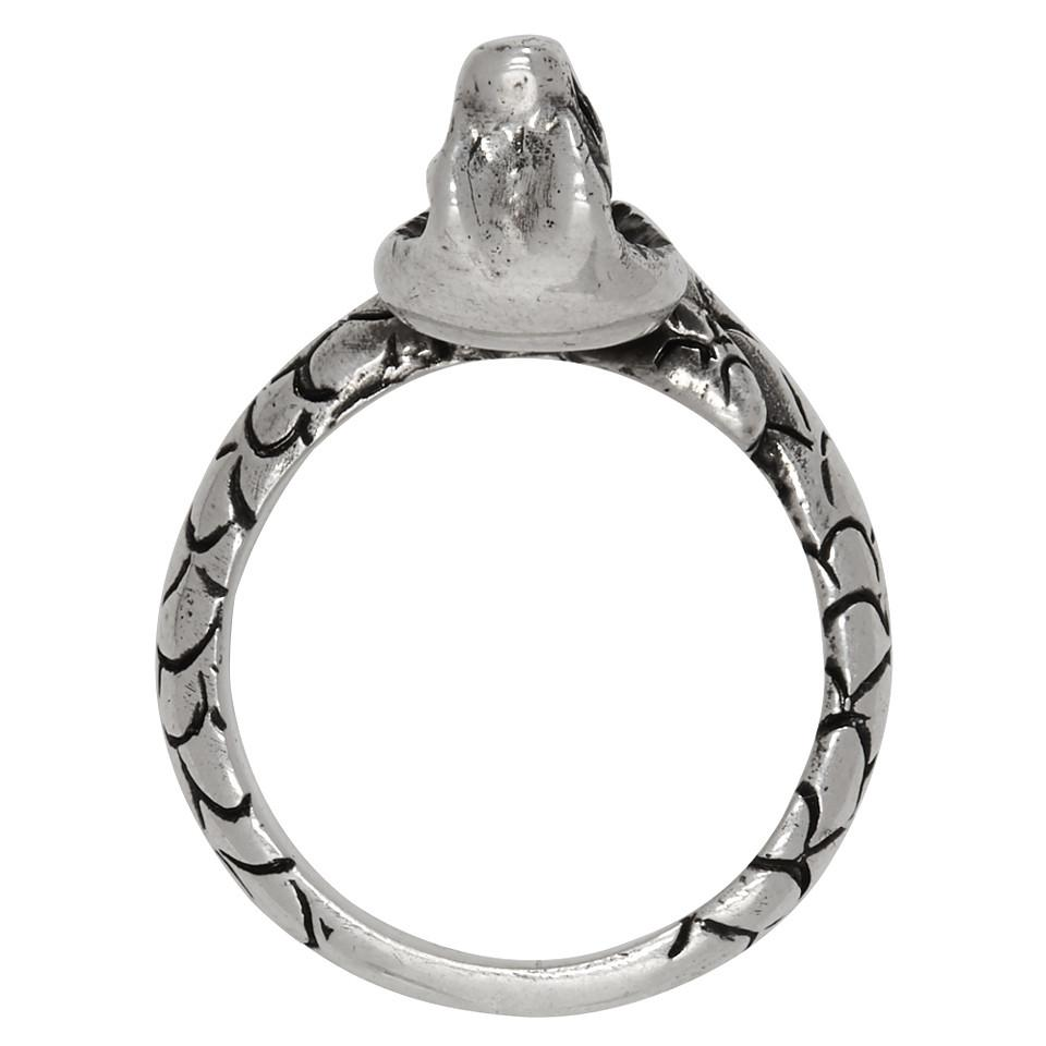 D17a508b725a Lyst Saint Laurent Silver Chain Ring In