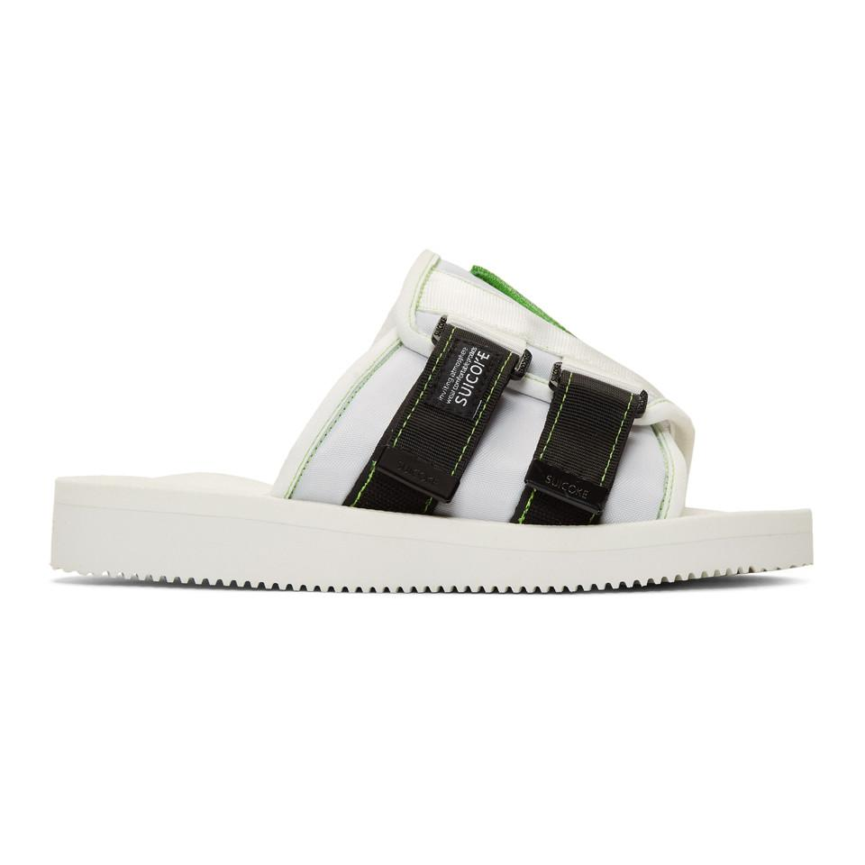 9b0a9a74e081 Lyst - Palm Angels White Suicoke Edition Kaw-pa-a Sandals in White