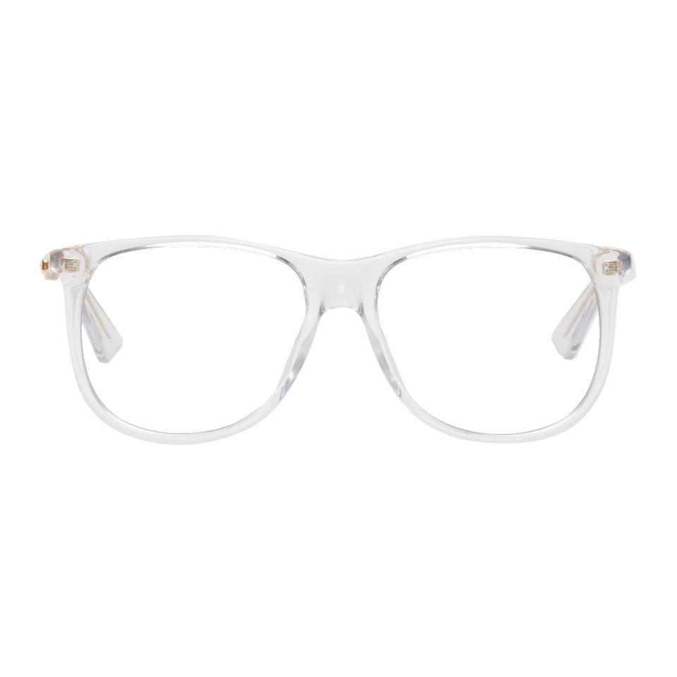 59494b4aca963 Lyst - Lunettes transparentes 80s Monocolor Gucci pour homme