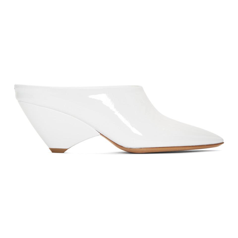 Maison Margiela White Deal Heel Mules H1D7T