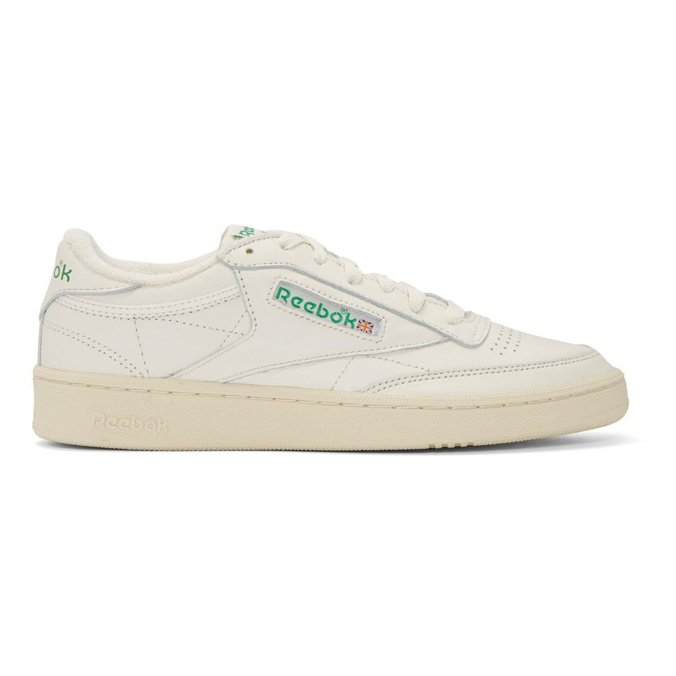 Reebok White Club C 85 Vintage Sneakers in White for Men - Lyst 0e16a8967