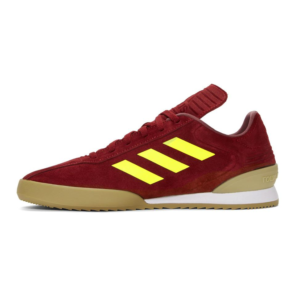 on sale 2aec9 0f283 gosha-rubchinskiy--Burgundy-Adidas -Originals-Edition-Copa-Super-Sneakers.jpeg