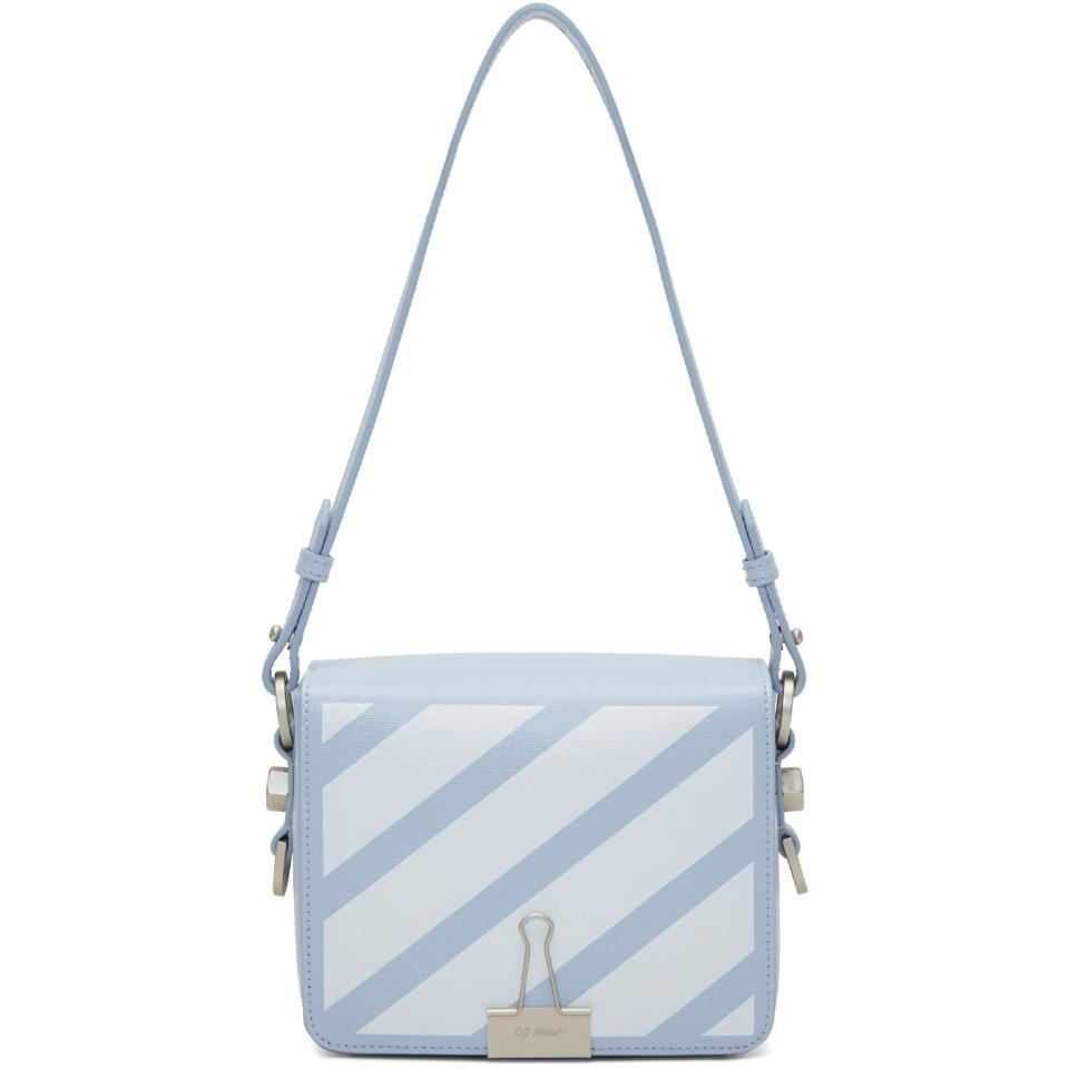 Lyst - Off-White c o Virgil Abloh Blue Diagonal Binder Clip Bag in Blue db232131a12fc