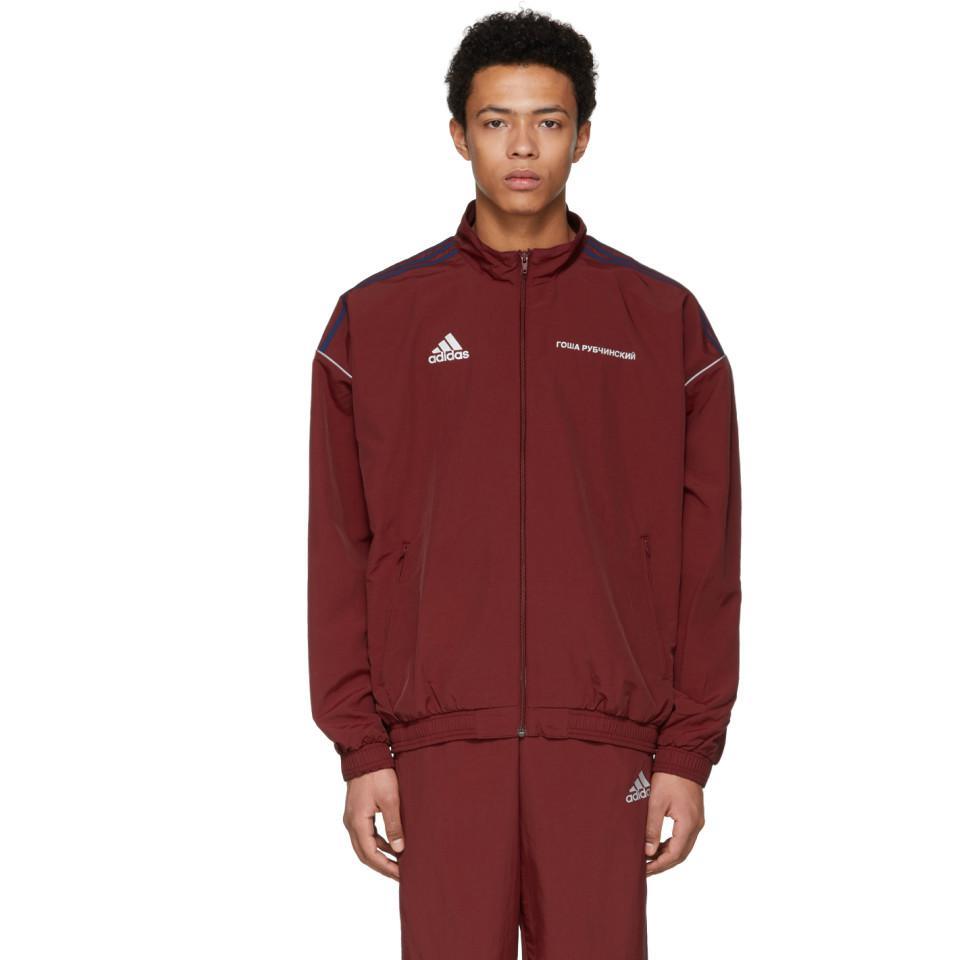Lyst - Gosha Rubchinskiy Burgundy Adidas Originals Edition ...
