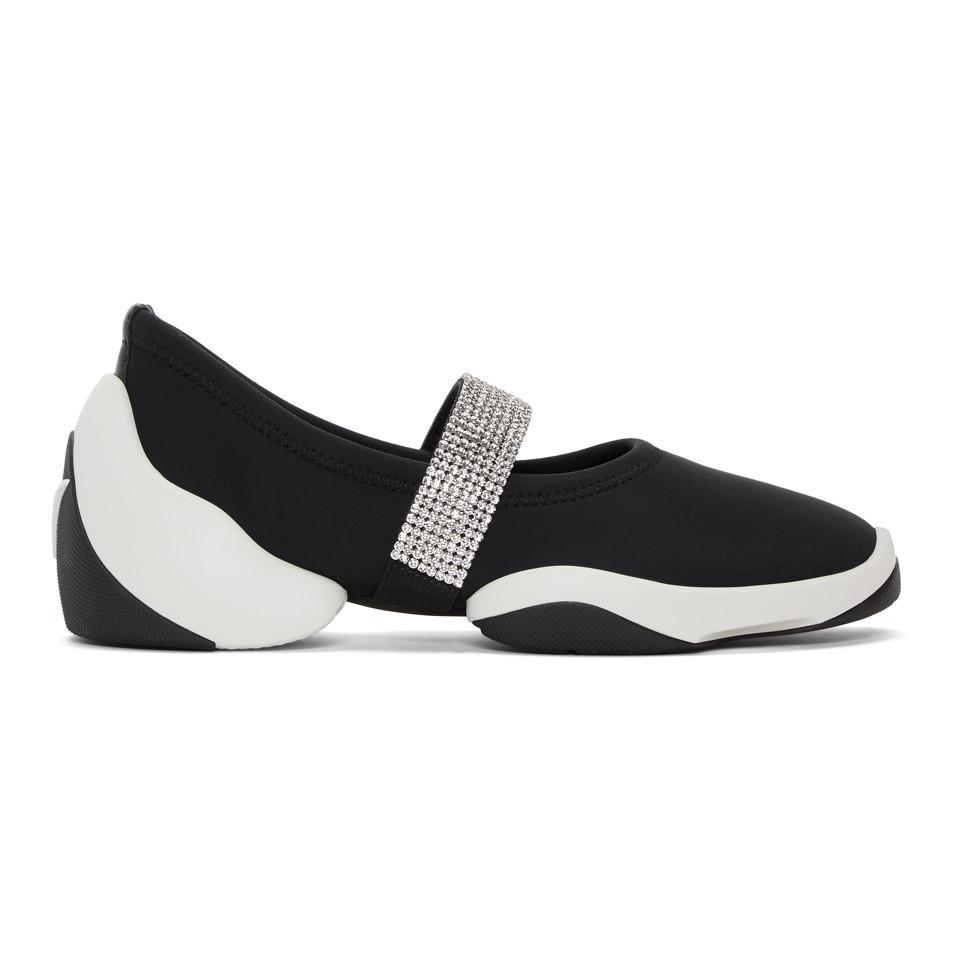 Giuseppe Zanotti Black Crystal Band Light Jump Sneakers N4togP