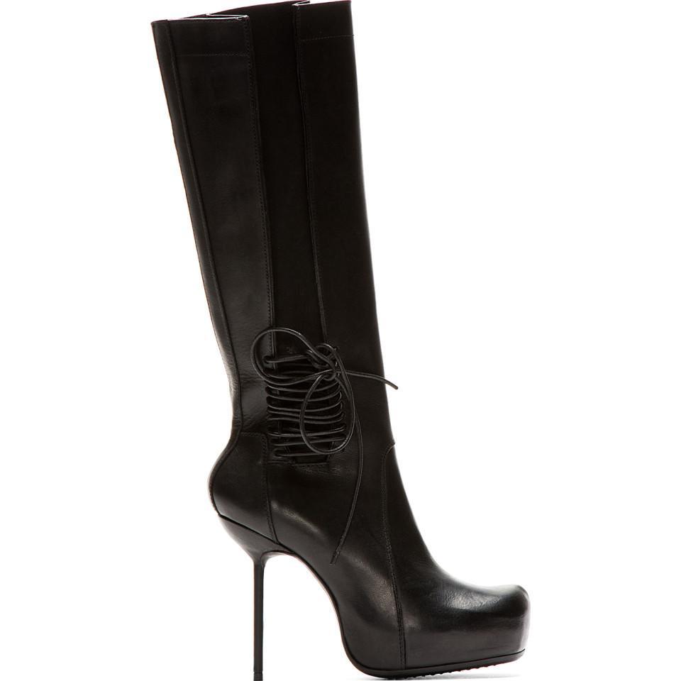 Rick Owens Leather Stiletto Wader Boots 0DKXbJ