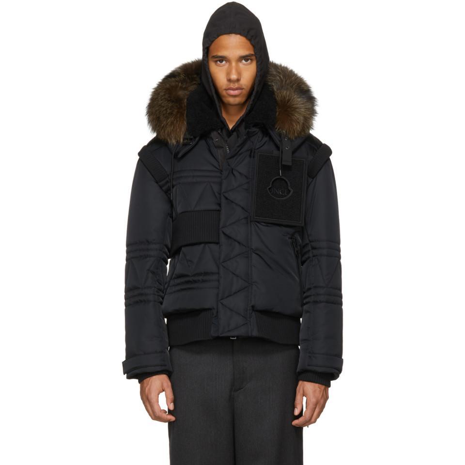 8f51d65b41cf Lyst - Moncler Black Down Connor Jacket in Black for Men