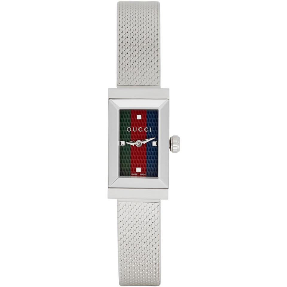 002e91c3077 Gucci - Metallic Silver G-frame Slim Watch - Lyst. View fullscreen