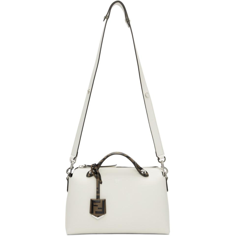 f157d256a6 Lyst - Fendi White By The Way Bag in White
