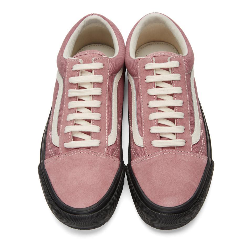 Lyst - Vans Pink And Black Og Old Skool Lx Sneakers in Pink for Men fcf350a20