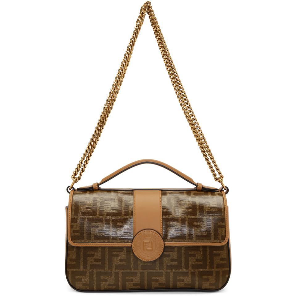 370c60224387 Fendi Brown Forever Bag in Brown - Lyst