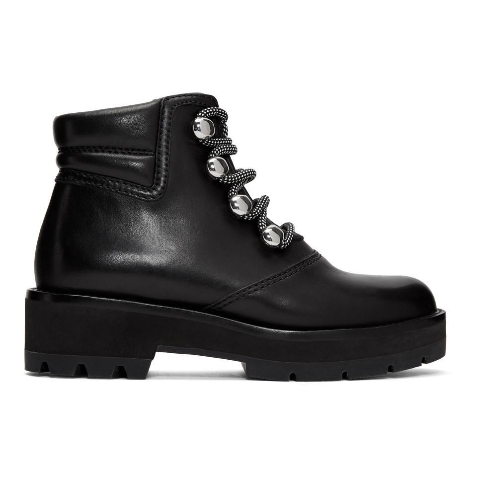 3.1 Phillip Lim Black Dylan Hiking Boots 4gBKvd5AM