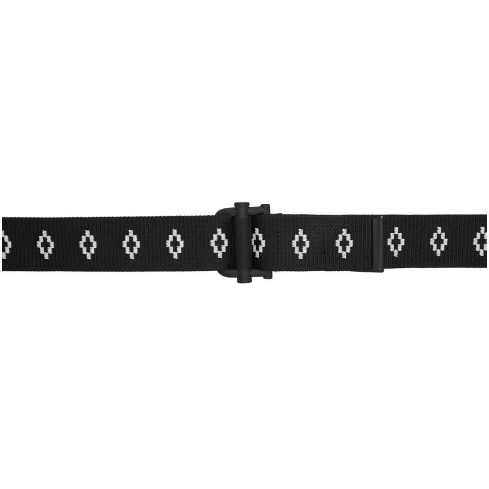 Black and White All Over Logo Belt Marcelo Burlon EPzx4Kiue