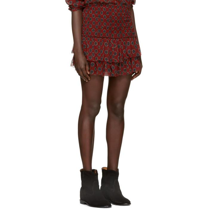 Étoile Isabel Marant Burgundy Brinley Miniskirt