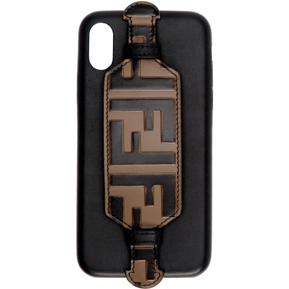 b1dfad73202e Lyst - Fendi Black Forever Iphone X Case in Black