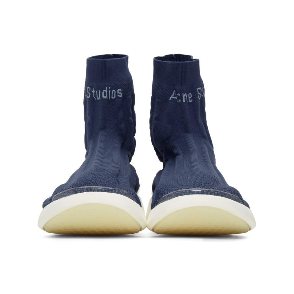 Blue Tristian High-Top Sneakers Acne Studios mD8UVXPr3