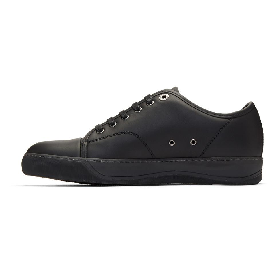 Lanvin Black Perforated Basket Sneakers