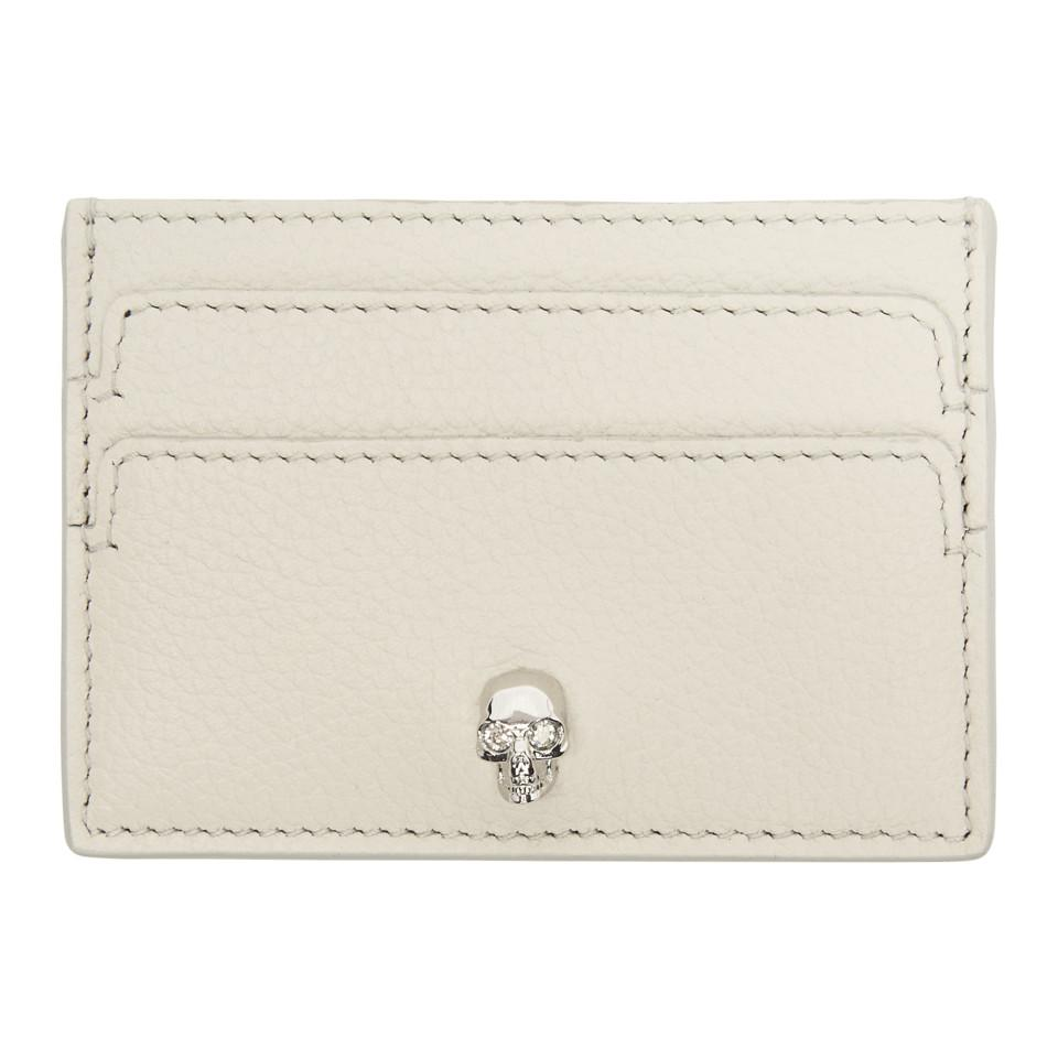 Off-White Skull Bifold Card Holder Alexander McQueen