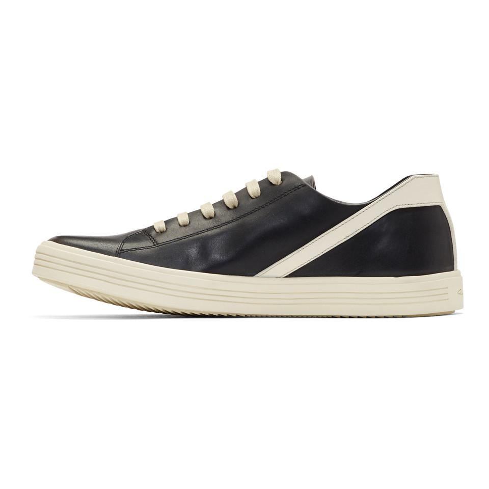 Rick Owens Black & Off-White Geothrasher Low Sneakers