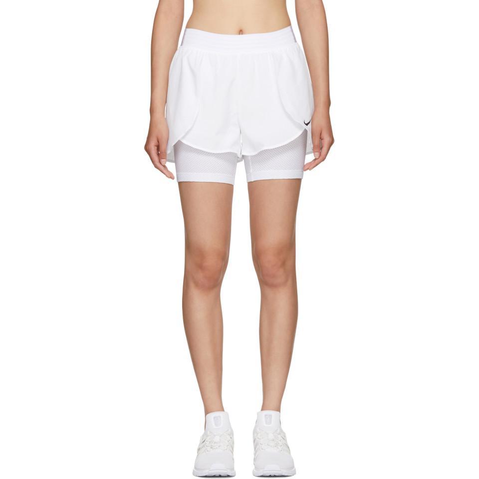 34595dfcc9e0 Nike White Flex Bliss Gym Shorts in White - Lyst