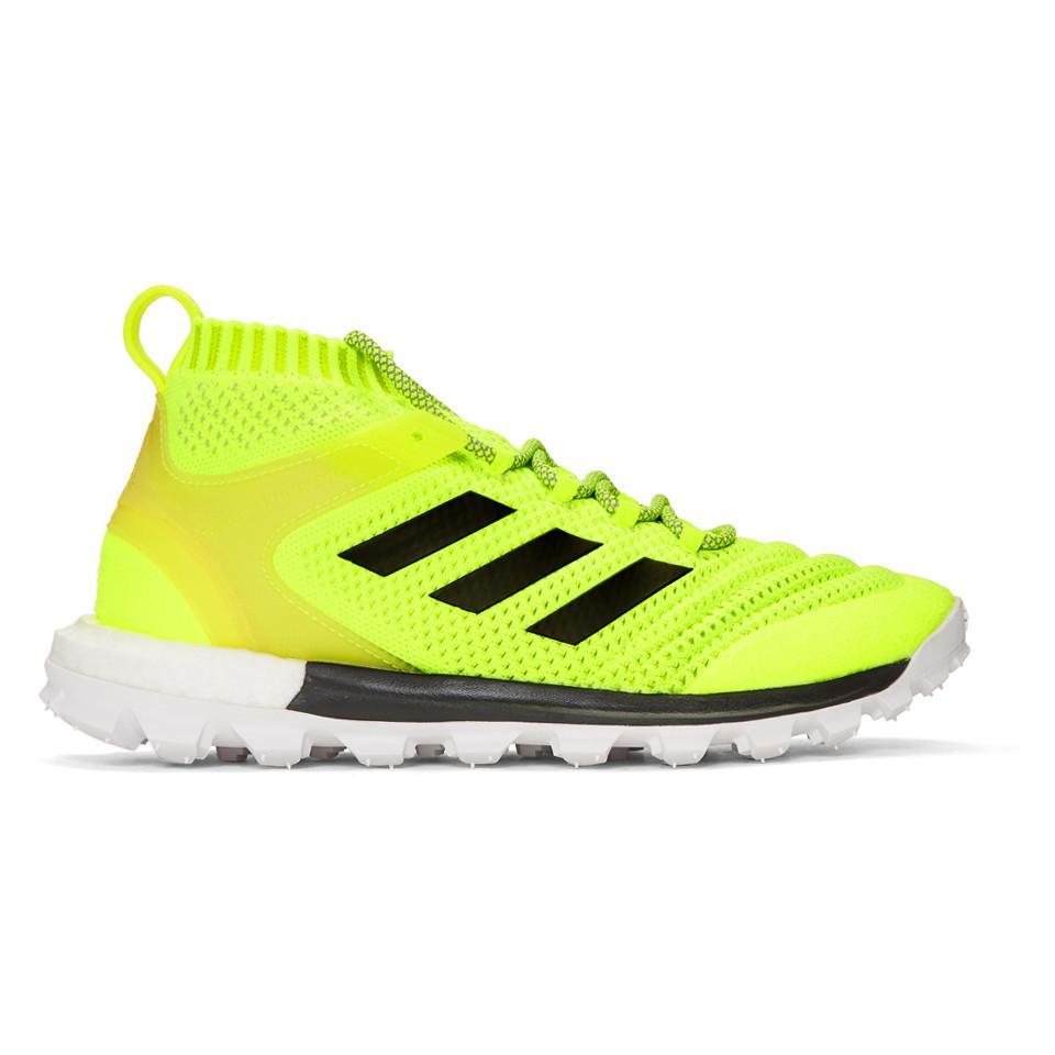 f77ba6c760821a Vetements Yellow adidas Originals Edition Copa Mid PK Sneakers fQrguVh
