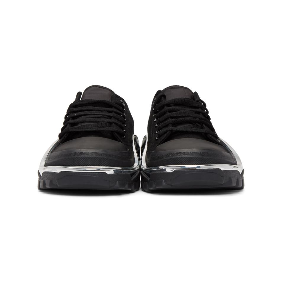 the latest b4d16 04750 ... new release Raf Simons - Black Adidas Originals Edition Rs Detroit  Runner Sneakers for Men ...