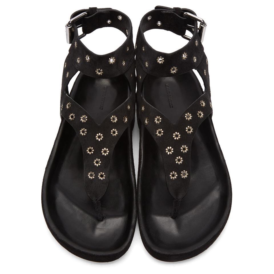 hot sale online 6598c c1f8d isabel-marant--Black-Suede-Elwina-Chic-Eyelet-Sandals.jpeg
