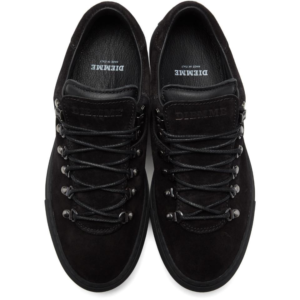 Diemme Black Suede Marostica Low Sneakers cK84SnNWyc