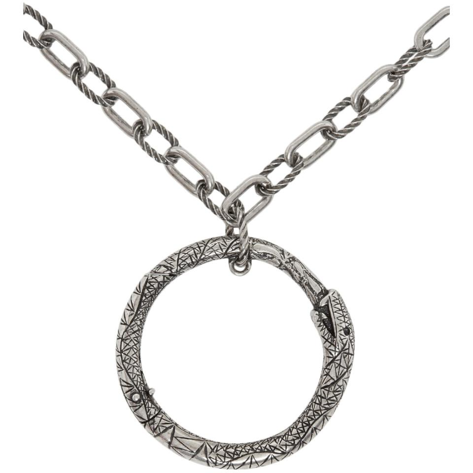7b0e9c7b5 Gucci - Metallic Silver Snake Ring Necklace for Men - Lyst. View fullscreen
