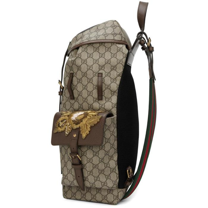 142cb43fc5f Gucci Beige Gg Supreme Donald Duck Backpack in Natural for Men - Lyst