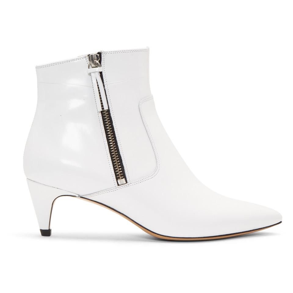 Isabel Marant White Deby Ankle Boots Y6n3QFcvk