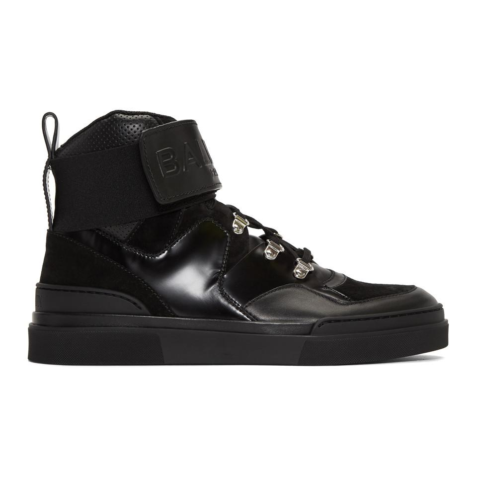 Black Cleveland High-Top Sneakers Balmain LOhqLWit