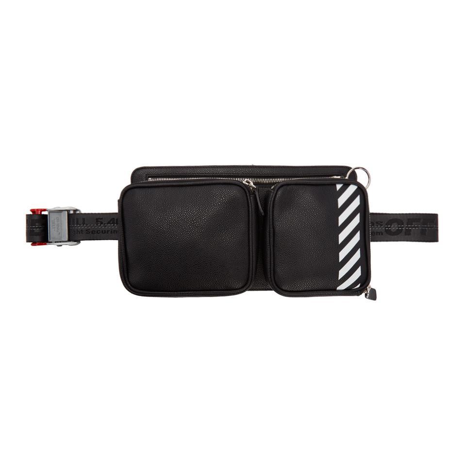 71cf0ae4e43 Lyst - Off-White c o Virgil Abloh Black Diag Hip Bag in Black for Men