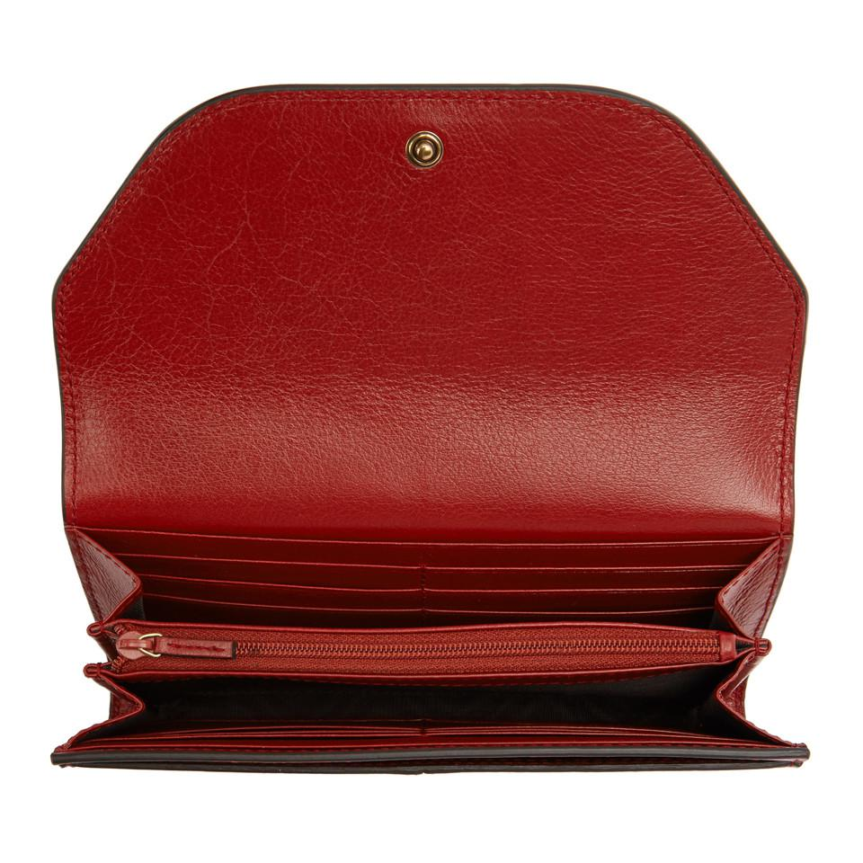 083a19e938f4 Gucci - Red GG Default Flap Wallet - Lyst. View fullscreen