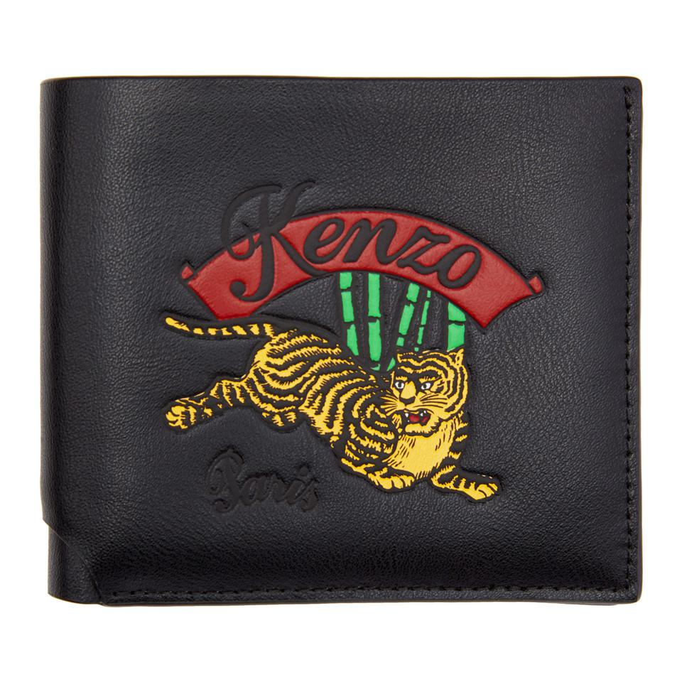 5fdc4f69b64 KENZO Black Jumping Tiger Wallet in Black for Men - Lyst