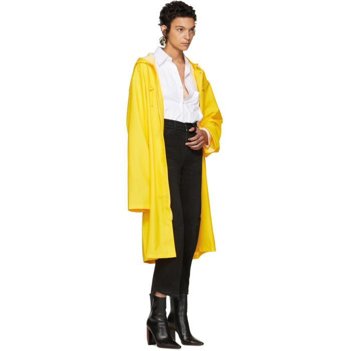 Lyst Vetements Yellow Logo Raincoat In Yellow