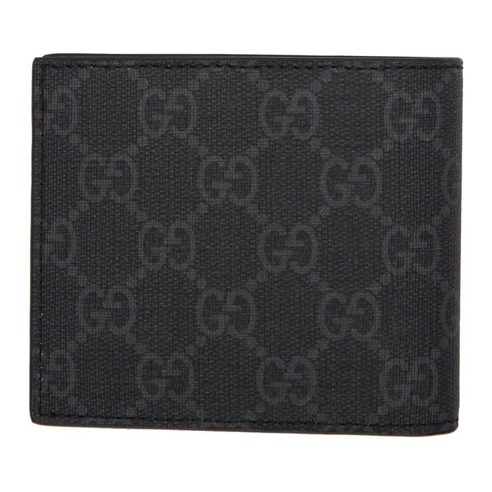 Gucci - Black GG Supreme Eagle Print Wallet for Men - Lyst. View fullscreen 605d86e5674