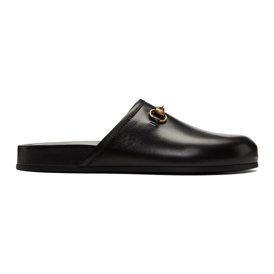c0ddc5243c9 Lyst - Gucci Black New River Clog Loafers in Black