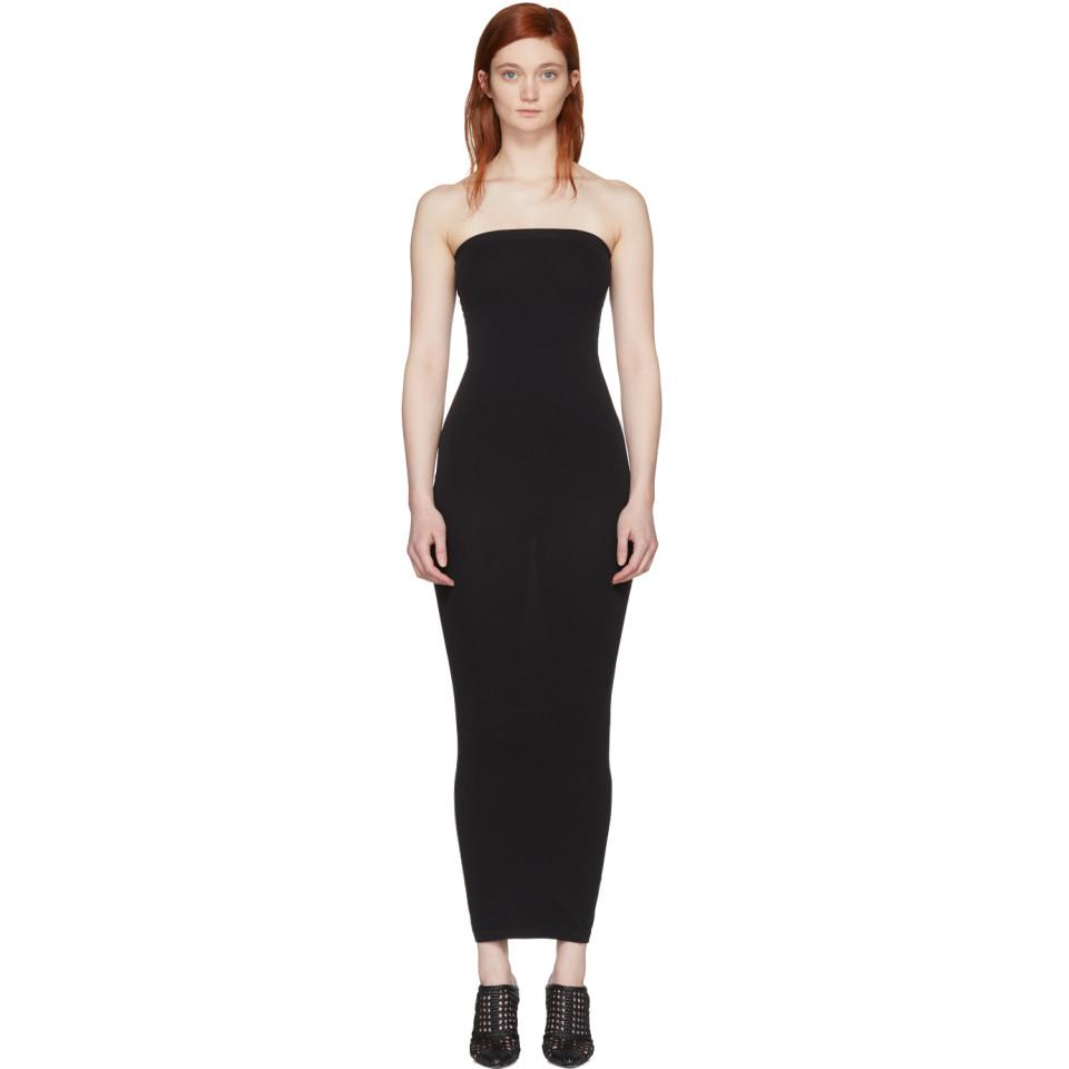 aca37d2804c Lyst - Wolford Black Convertible Fatal Dress in Black