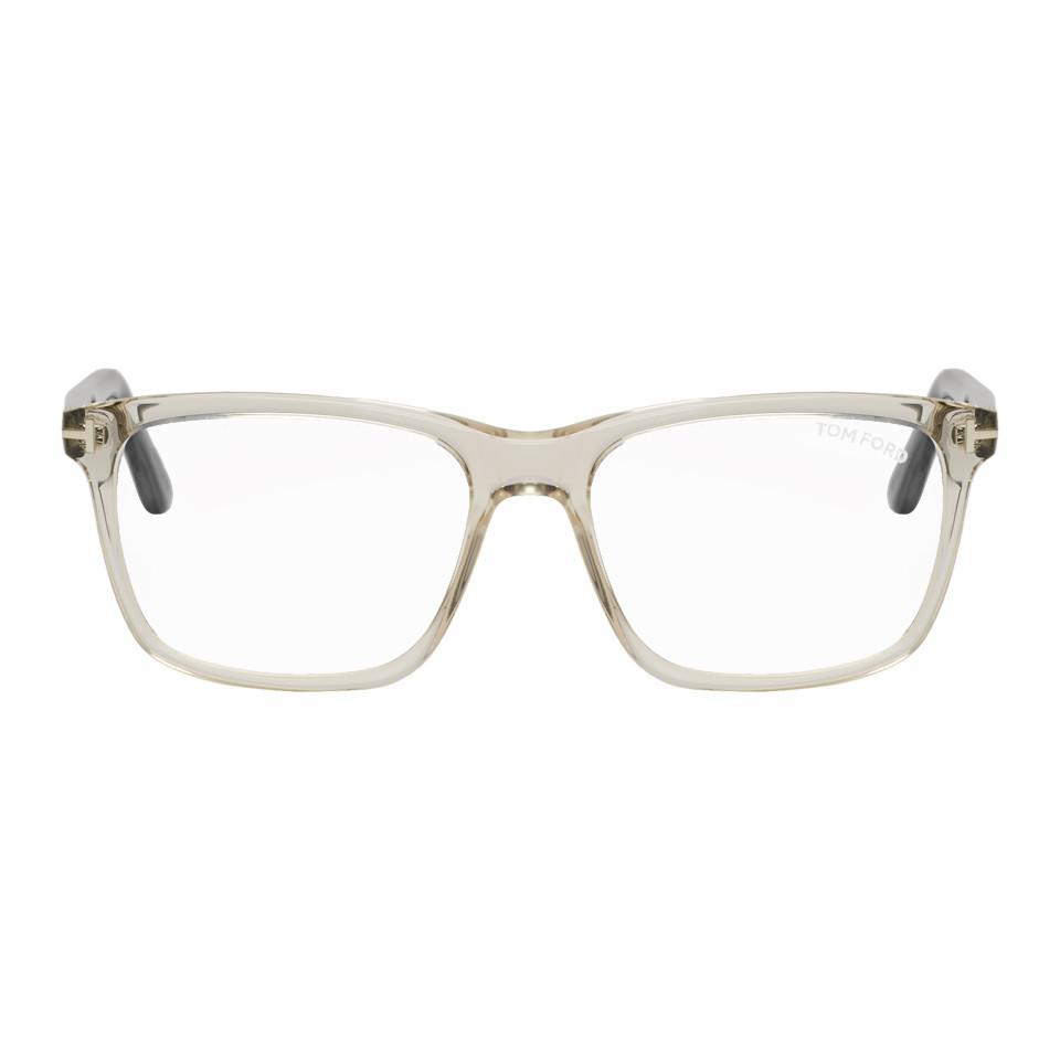 e19aca4f8c Tom Ford - Multicolor Transparent And Black Block Square Glasses for Men -  Lyst. View fullscreen