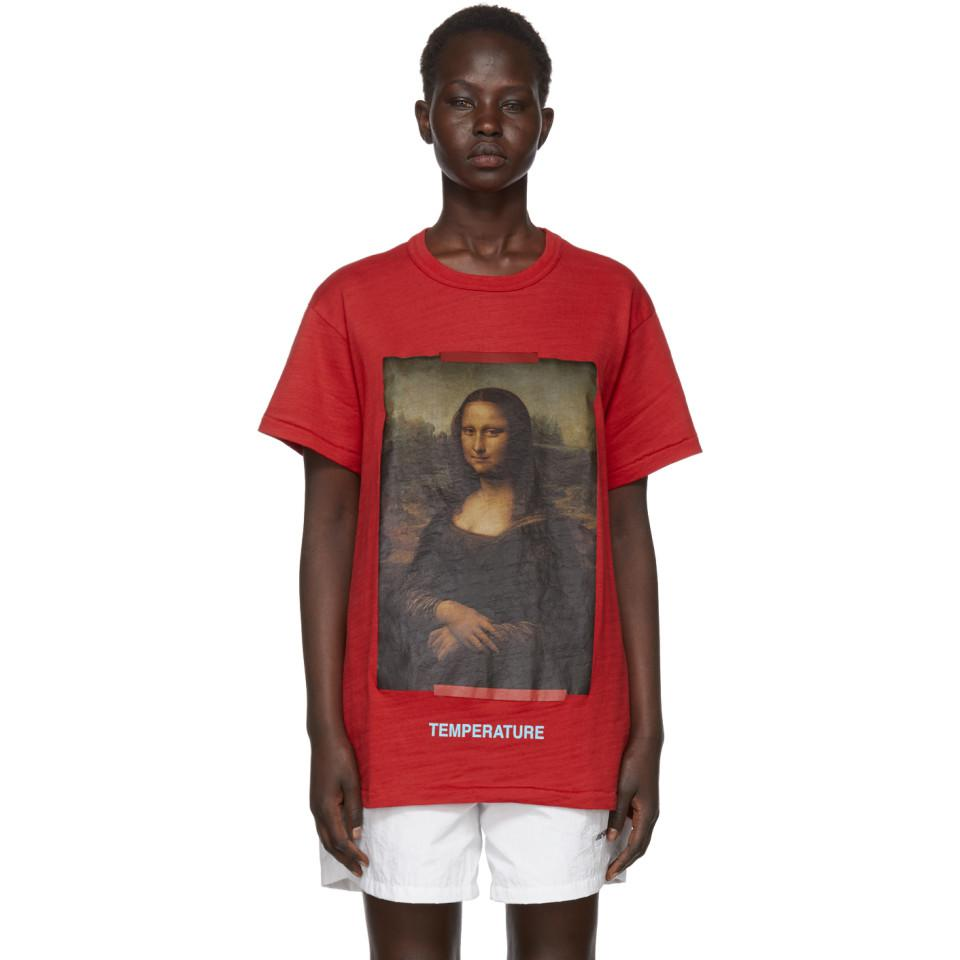 4eb9b23ba62e Lyst - Off-White C O Virgil Abloh Red Diagonal Monalisa T-shirt in Red