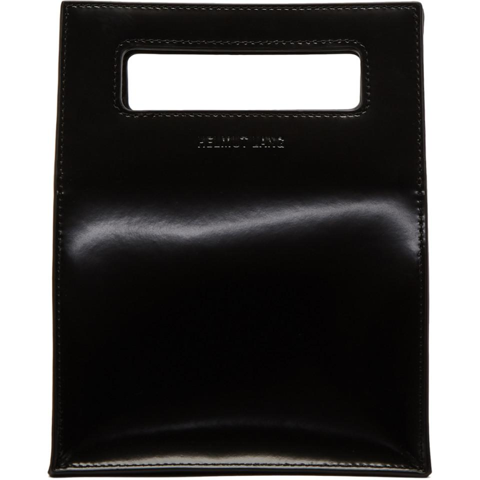 Lunch Bag in Ice Blue Patent Leather Helmut Lang u5bEWVl
