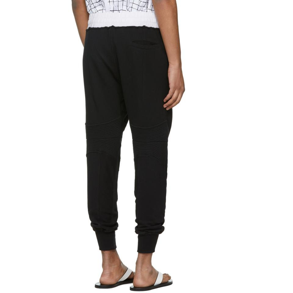 Pay With Paypal Cheap Price Black Moonshape Jogging Perth Lounge Pants Haider Ackermann 2018 Sale Online QEa6DGYWjt