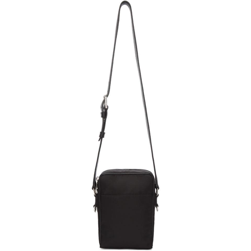 Dolce   Gabbana Black Varsity Logo Camera Bag in Black for Men - Lyst 93e0003519509