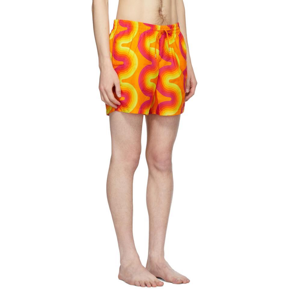 92a9aaacbb Dries Van Noten - Orange Verner Panton Edition Phibbs Swim Shorts for Men -  Lyst. View fullscreen