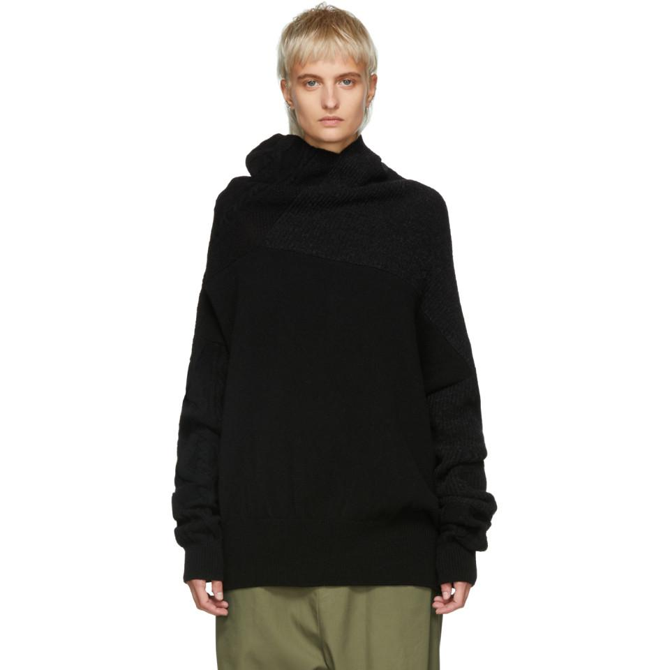 Black Intarsia Turtleneck Yohji Yamamoto Sale Good Selling Clearance Lowest Price View Cheap For Cheap KkZjj0Wgo
