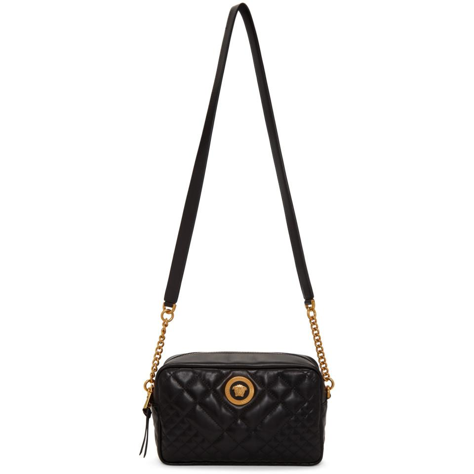 7942b5152c70 Lyst - Versace Black Quilted Medusa Tribute Camera Bag in Black