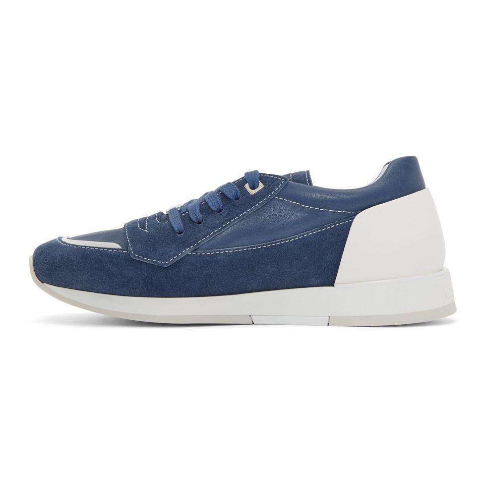 Jimmy Choo Blue Suede Jett Sneakers rVesIn