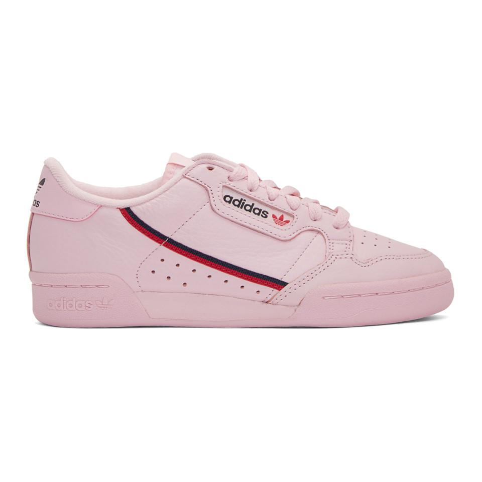 Adidas Originals Pink Continental 80 Sneakers In Pink Lyst